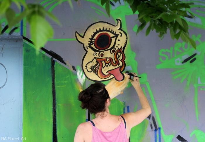 kelsey scult artist buenos aires street art buenosairesstreetart.com mural