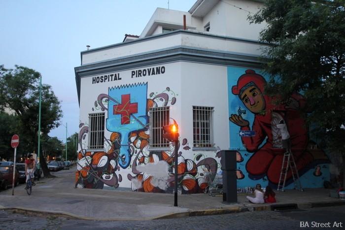 hospital pirovano pinta bien open house coghlan buenos aires murales buenosairesstreetart.com