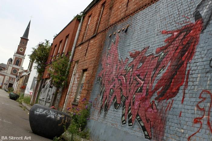 graffiti belgium doel abandoned town