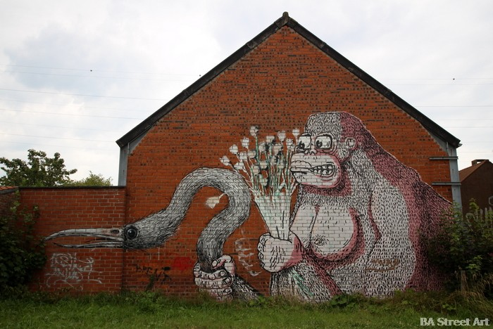roa doel belgium graffiti town abandoned HDA crew