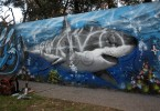 shark graffiti  buenos aires street art buenosairesstreetart.com