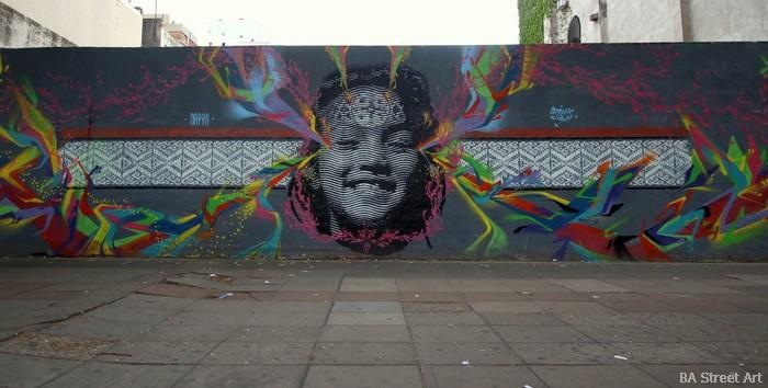 stinkfish nazza stencil mural buenos aires argentina street art tour buenosairesstreetart.com nazza