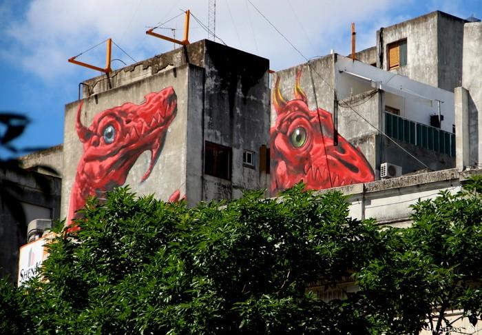 dragon mural palermo villa crespo buenos aires argentina arte urbano buenosairesstreetart.com