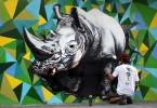 3D rhino graffiti buenos aires street art rinoceronte buenosairesstreetart.com