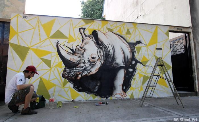 rhinoceros street art buenos aires argentina buenosairesstreetart.com