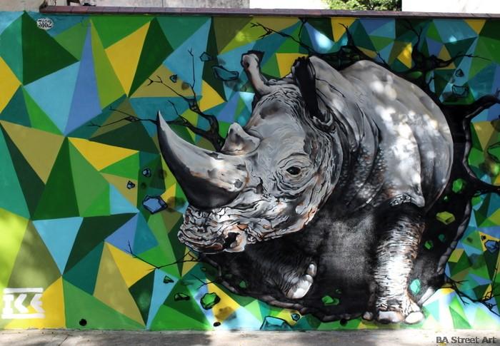 rinoceronte mural buenos aires proyecto de BA Street Art ice buenosairesstreetart.com