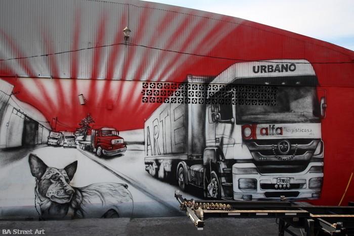 truck street art mural camion buenos aires argentina intervencion urbano arte