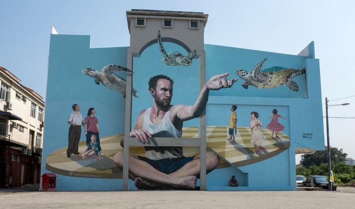 graffiti malaysia penang martin ron raja uda mural wall art buenosairesstreetart.com