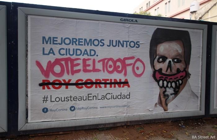 election poster graffiti buenos aires culture jamming sweet toof buenosairesstreetart.com