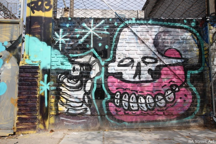 sweet toof graffiti artist buenos aires skull graff teeth buenosairessteetart.com