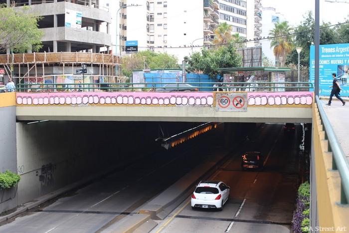 sweet toof graffiti bridge buenos aires palermo buenosairesstreetart.com arte urbano grafiti