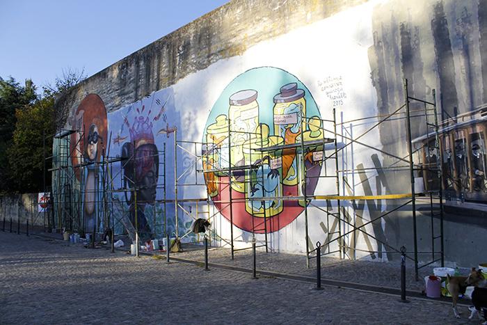 street art lujan buenos aires Mati Quiroga with Ale Leonelli