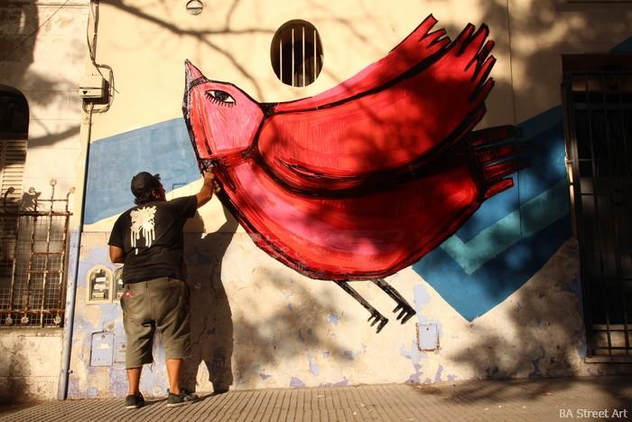 luxor artista la plata buenos aires bird graffiti buenosairesstreetart.com