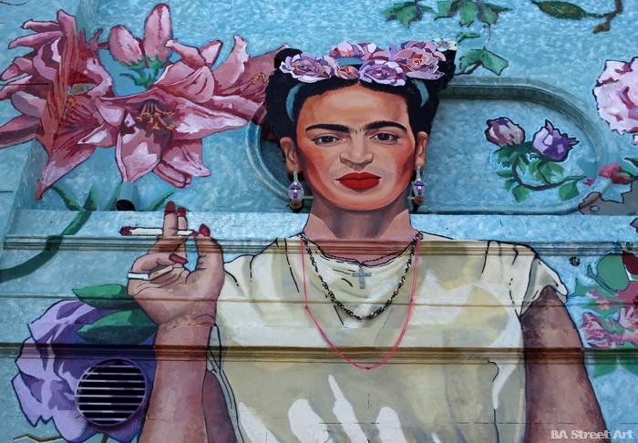 frida kahlo buenos aires arte urbano buenosairesstreetart.com