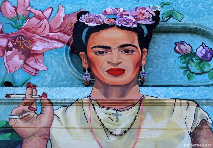 frida kahlo graffiti mural buenos aires palermtour o buenosairesstreetart.com