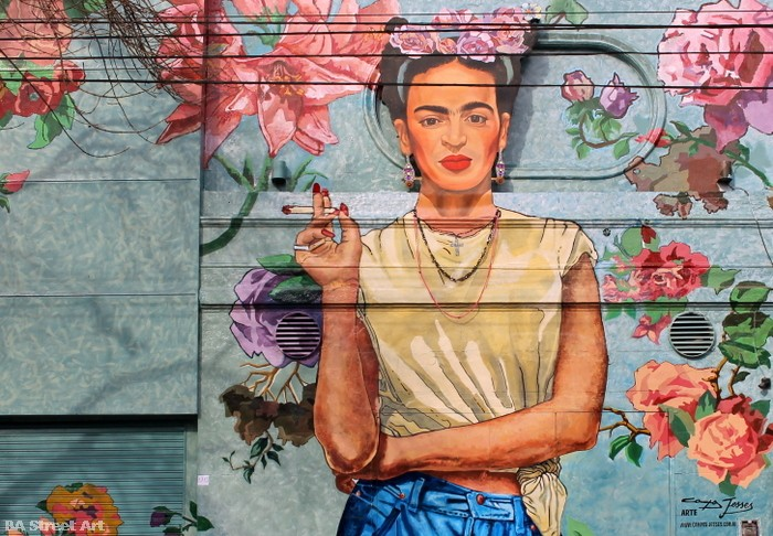 frida kahlo mural buenos aires graffiti tour buenosairesstreetart.com