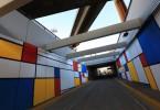 metrobus 9 de julio tunel mural  mondrian buenos aires constitucion buenos aires arte urbano