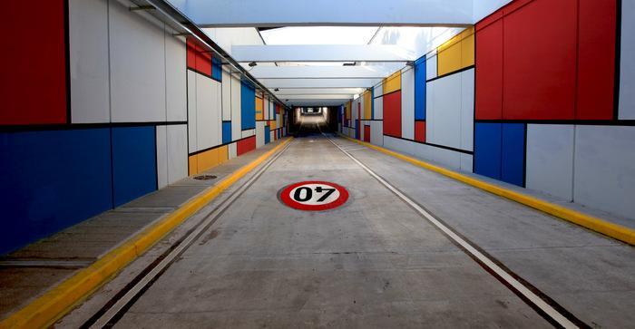 metrobus buenos aires modrian tunnel public art argentina
