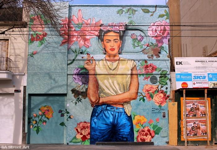 Frida kahlo mural in buenos aires ba street art for Arte mural en mexico