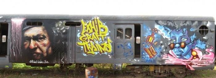 Exhib Graff Trains Junin 2015 street art buenos aires buenosairesstreetart.com