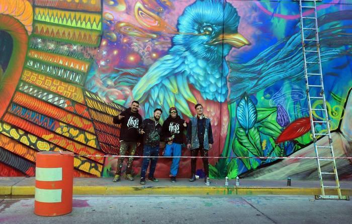 tunel caseros tres de febrero obras murales pajaro arte urbano buenos aires miguel babjaczuk fotografo