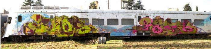 train graffiti buenos aires