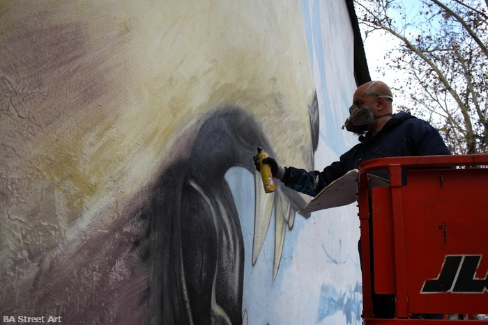 artista alfredo segatori greenpeace shell mural palermo buenos aires buenosairesstreetart.com