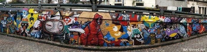 cartoon bridge buenos aires street art grito mab k2man