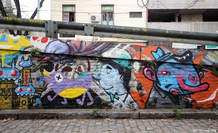 cartoon grafiti buenos aires argentina murales buenosairesstreetart.com
