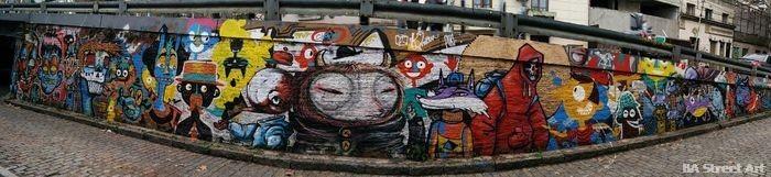 cartoon mural puente buenos aires urban art buenosairesstreetart.com