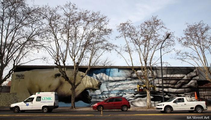 oso polar mural buenos aires palermo buenosairesstreetart.com arte urbano greenpeace