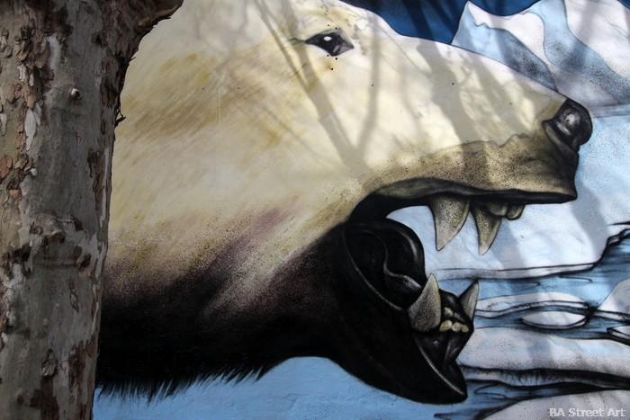 oso polar mural graffiti buenos aires greenpeace artista murales argentina buenosairesstreetart.com