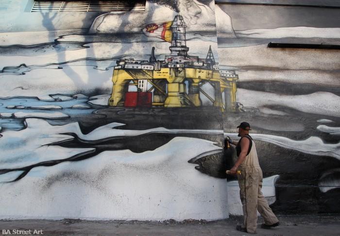 shell oil rig greenpeace protest buenos aires mural alfredo segatori buenosairesstreetart.com