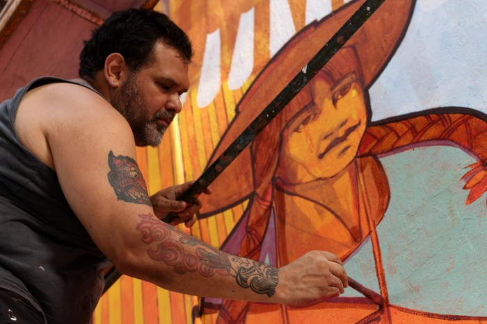 BA Street Art Dan Silva Marcelo Carpita mural Floresta Buenos Aires buenosairesstreetart.com