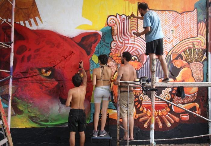 BA Street Art Dan Silva Marcelo Carpita mural Floresta Buenos Aires Latinoamérica buenosairesstreetart.com