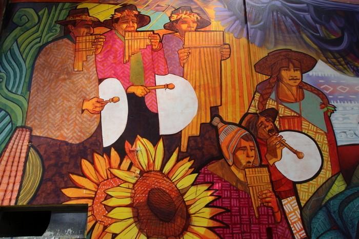 pueblos originarios Dan Silva Marcelo Carpita mural Floresta Buenos Aires copleras buenosairesstreetart.com