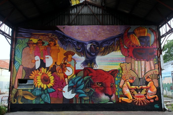 Dan Silva Marcelo Carpita mural Corralón de Floresta Buenos Aires BA Street Art