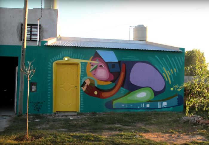 flood la plata buenos aires mural arte casas inundadas argentina luxor mural