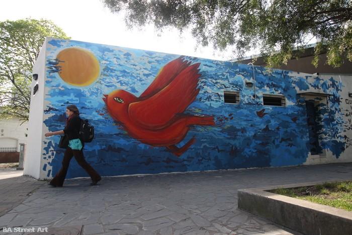 urban art buenos aires city murales argentina cielo  bird luxor