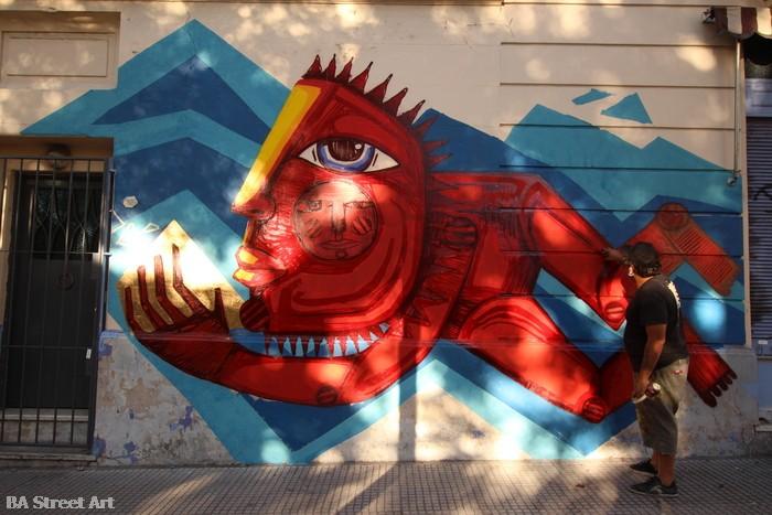 Luxor street artist buenos aires BA Street Art mural project buenosairesstreetart.com artista arte urbano