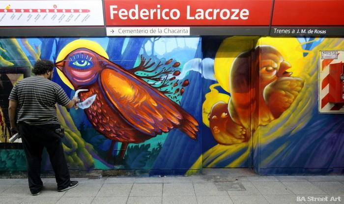 proyecto de murales BA Street Art estacion Federico Lacroze chacarita buenos aires luxor buenosairesstreetart.com