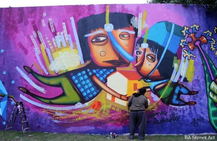 buenos aires murales Luxor artista pintando La Plata arte callejero buenosairesstreetart.com