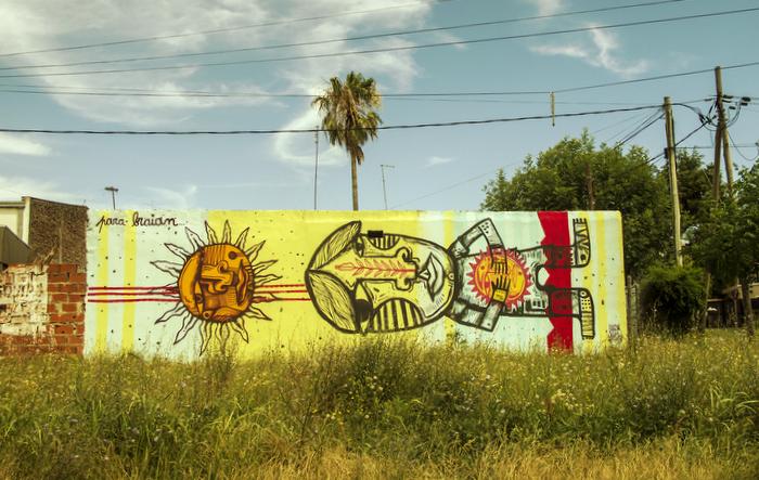 graffiti mural luxor buenos aires arte callejero muralismo la plata argentina flower fist