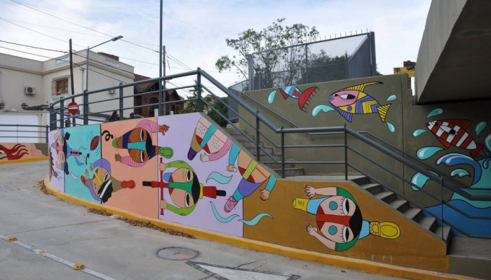 arte urbano buenos aires claudio baldrich mural tunel beccar buenosairesstreetart.com