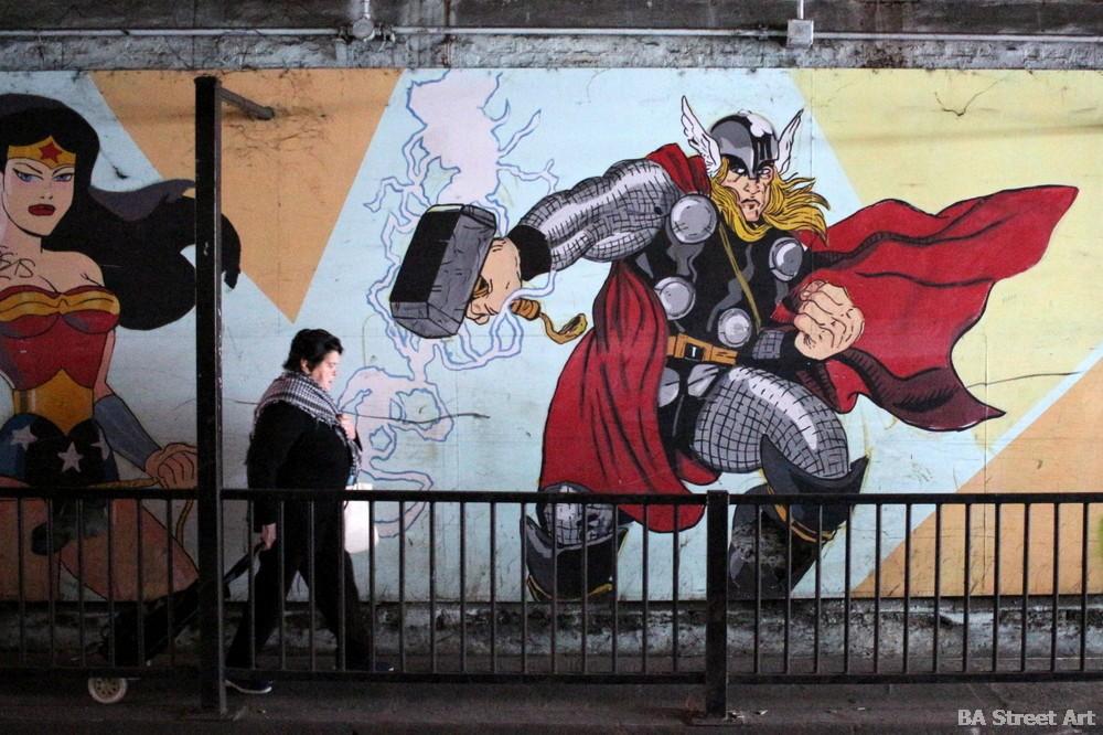 bs as graffiti baires buenos aires comic book characters superheroes buenosairesstreetart.com