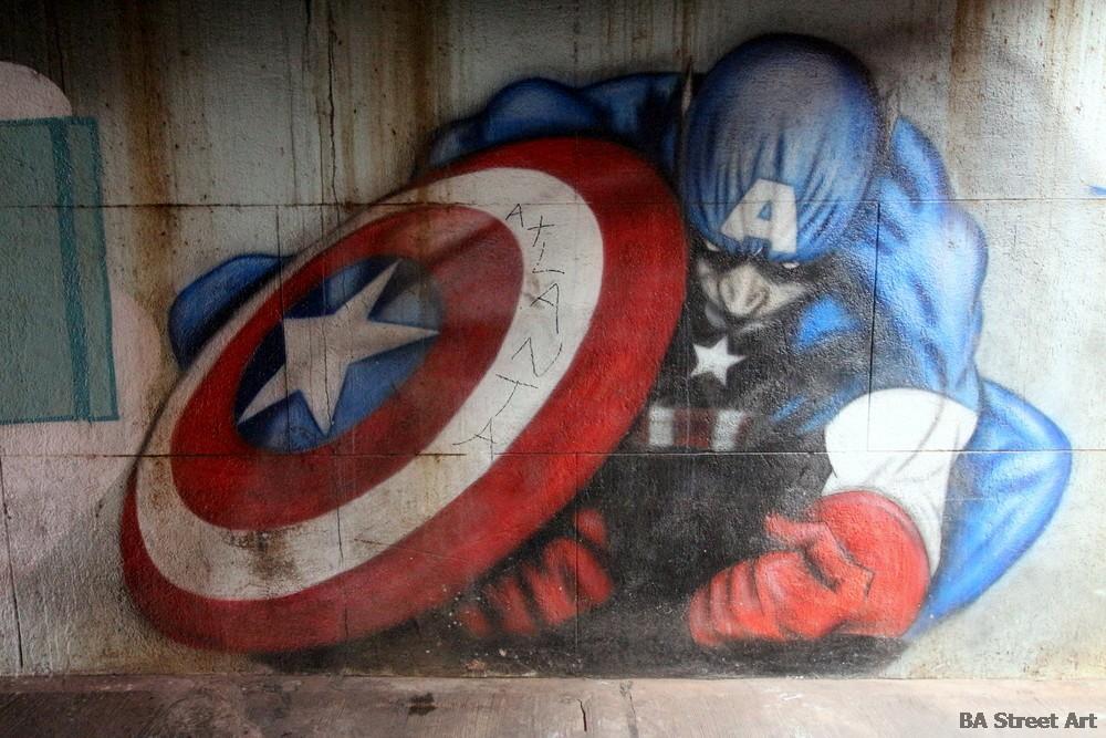 captain america buenos aires street art bs as murales superheroes buenosairesstreetart.com