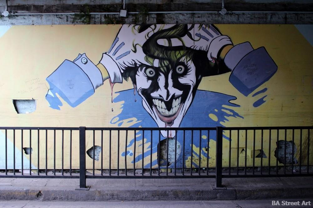 guason joker superheroes mural street art comic bs as murales buenosairesstreetart.com