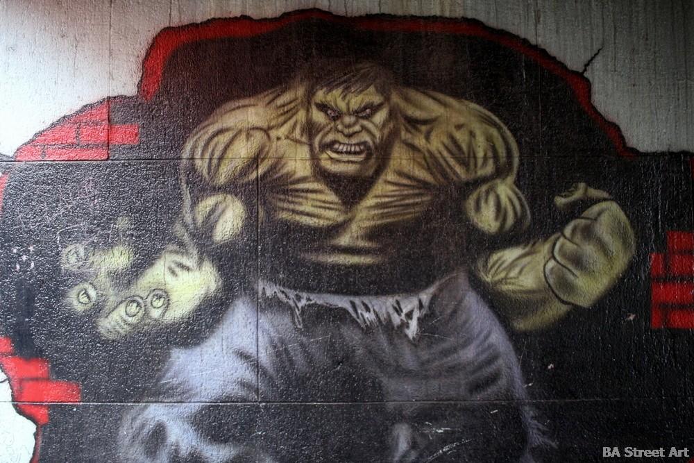 hulk street art buenos aires tour heroe comic murales buenosairesstreetart.com