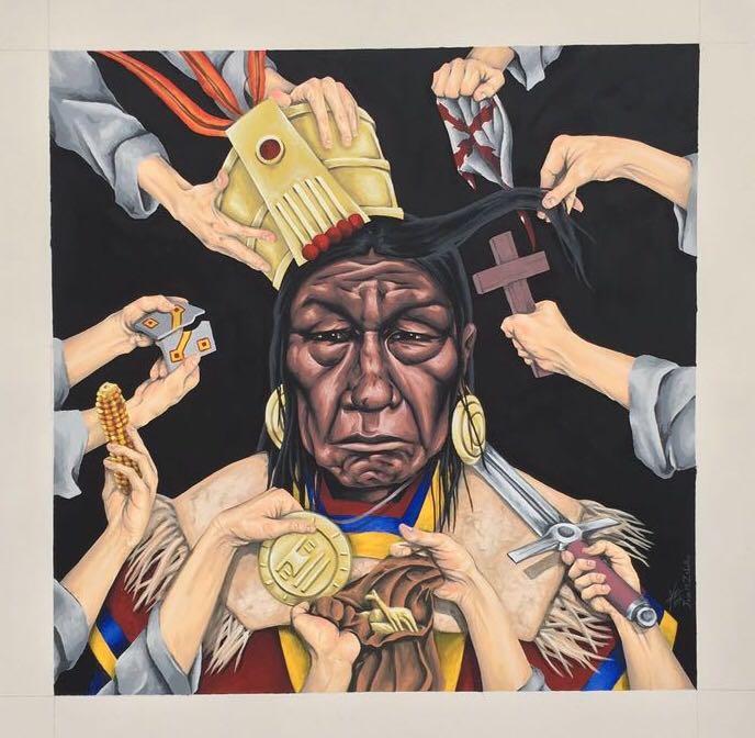 Juan Zeballos gallery show baltimore usa buenos aires street art artist exhibition show canvas