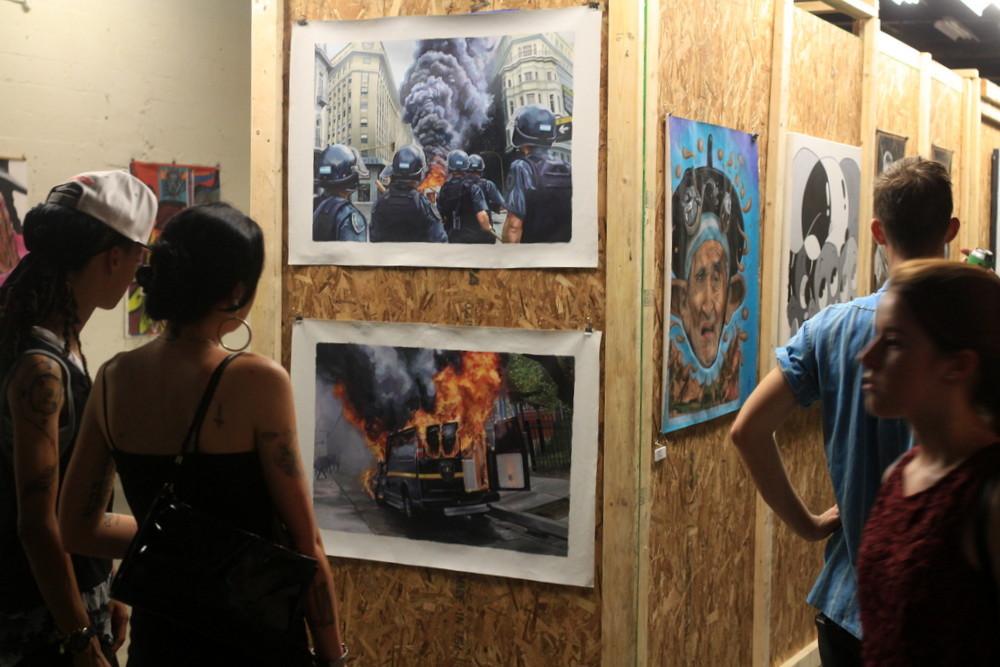 baltimore riots el marian artist exhbition paintings street art Matt Fox-Tucker buenosairesstreetart.com